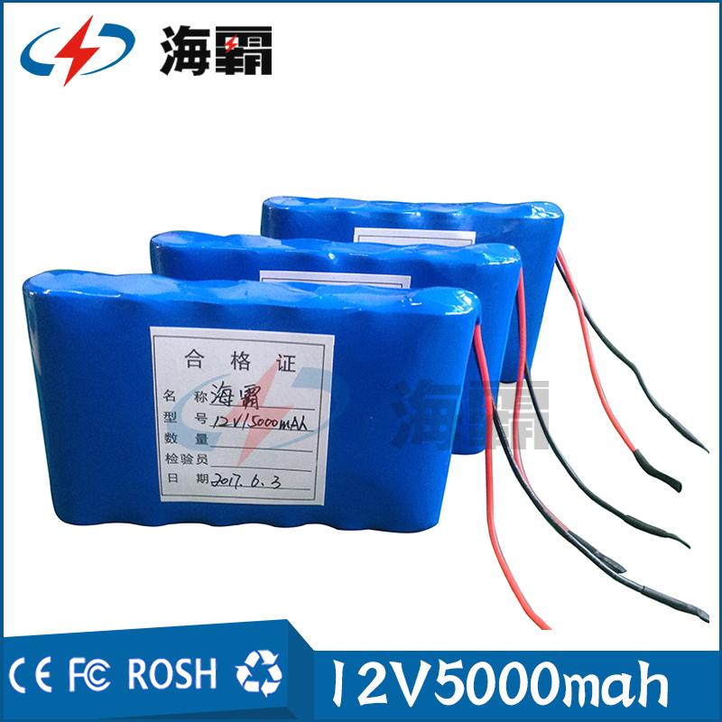 照明灯警告灯专用11.1V50200MAH大容量锂电池可充电11.1V锂电池