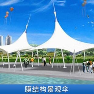 建筑钢结构景观膜伞图片