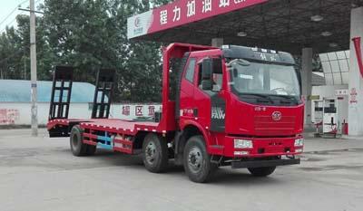 国五解放J6小三轴平板运输车