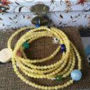 天然蜜蜡多圈手串也可以做毛衣链图片