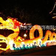 大型龙花灯  中秋花灯商业美陈 绿雕 泡沫雕刻 灯光字造型