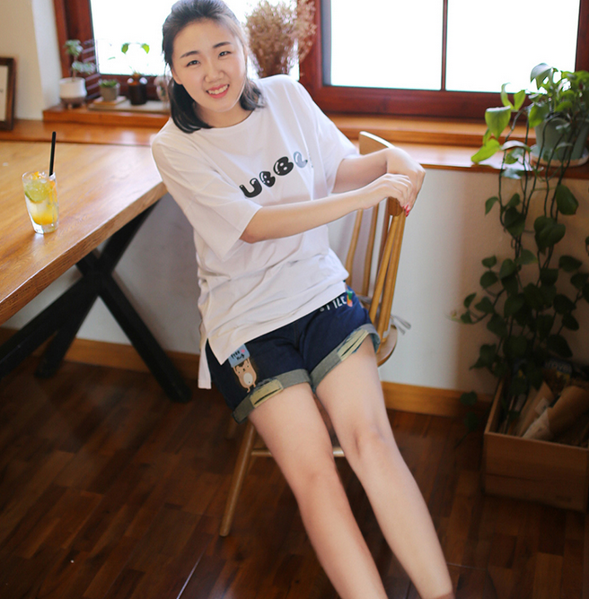 潍坊市韩版短袖  学生印花打底短袖