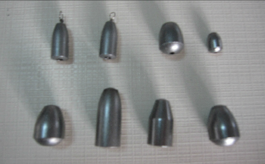 铁坠实心砣10g-50g水滴型 椭圆型通心渔坠子垂钓小配件可定制 中山垂钓小配件定做