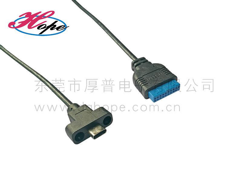 USB3.1线材Type_c前置面板线