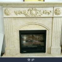 壁炉生产 石雕壁炉 大理石欧式天然雕花 电视柜背景墙装饰摆件 汉白玉壁炉定做 欢迎来电定制