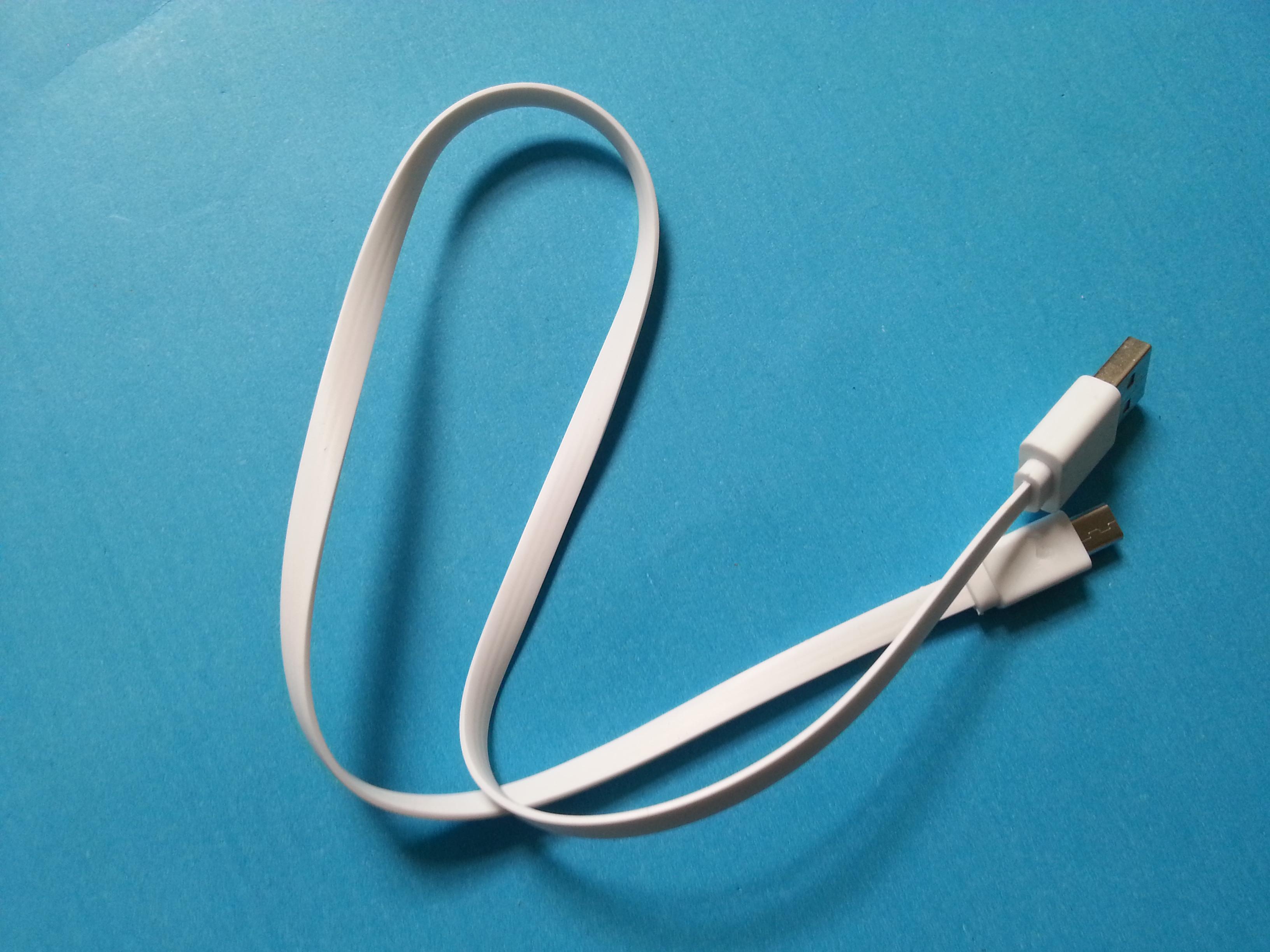 优质手机V8面条数据线 micro安卓充电线 20cm黑白移动电源面条线