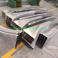 東莞波浪型鋁方通廠家定制,異形鋁合金方通,外墻氟碳鋁型材方通