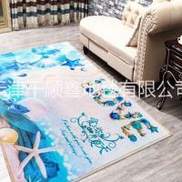 现代简约客厅潮牌印花地毯