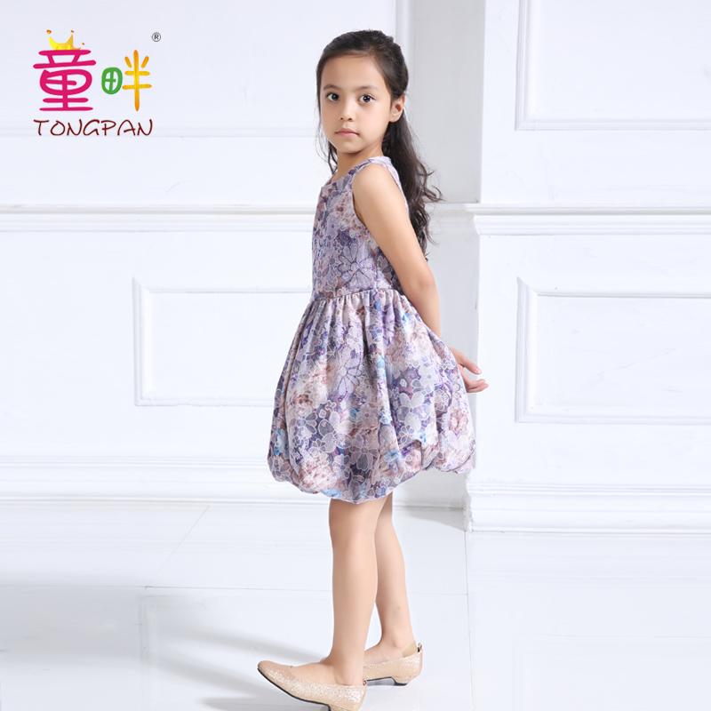 童畔紫色女童连衣裙韩版2017新款 童畔T0088紫色童装礼服