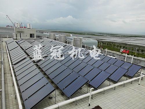 工厂宿舍太阳能热水工程选蓝冠机电 15年热水工程经验