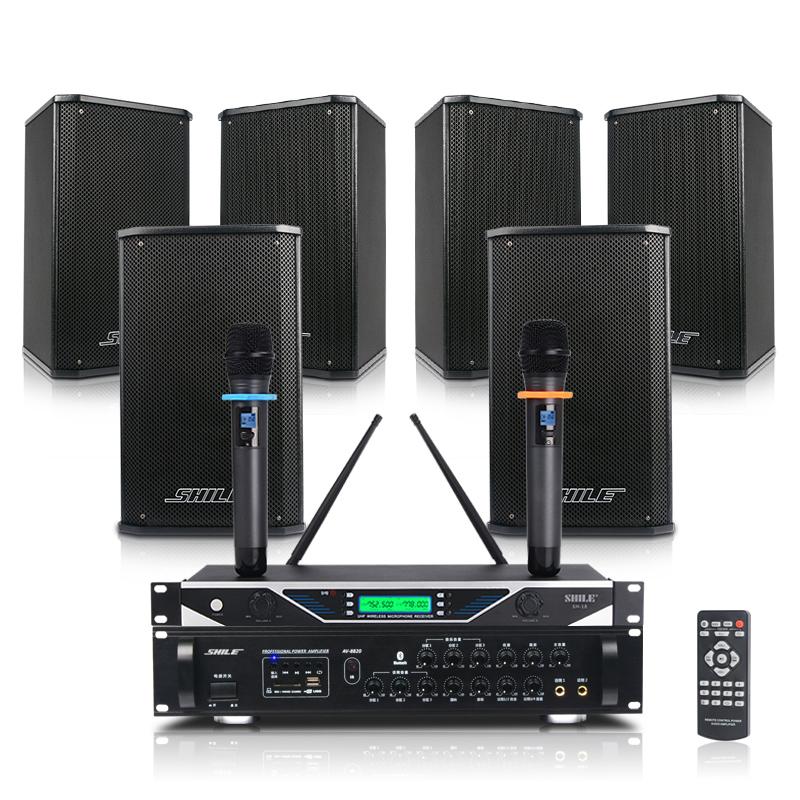 AV8820/118会议音响组合培训室店铺背景音乐蓝牙功放 AV8820+BX118三对+SH10
