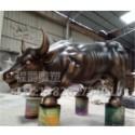 厂家生产 玻璃钢仿铜华尔街牛 生肖牛  广场装牛动物雕塑 牛雕塑