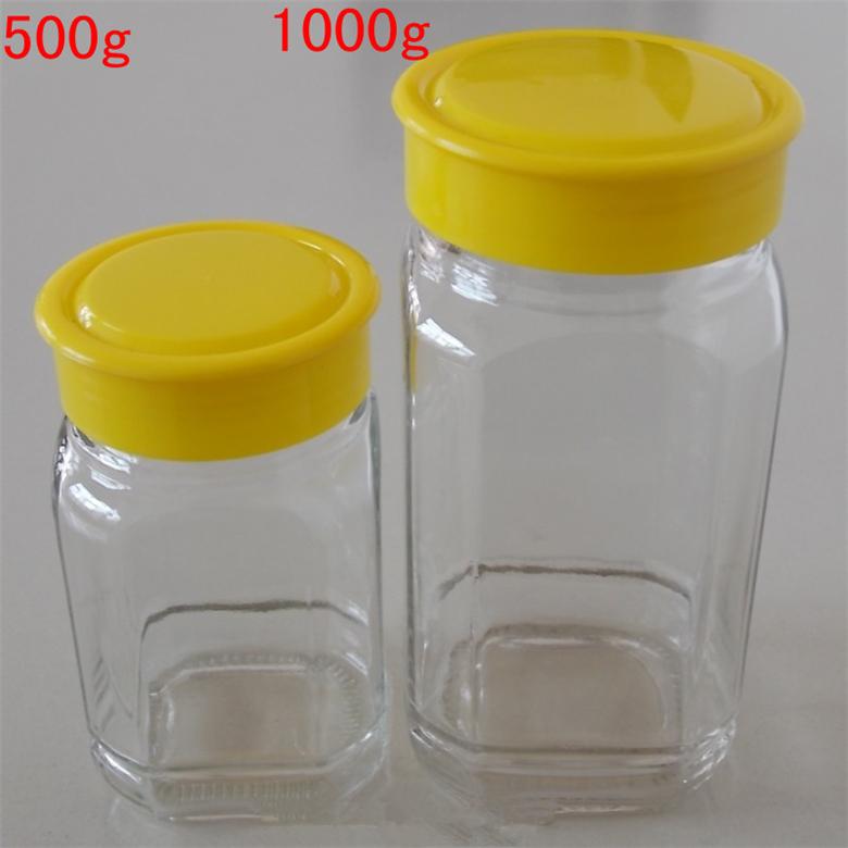 江苏徐州官宇玻璃蜂蜜瓶 批发零售八角蜂蜜瓶 酱菜瓶  罐头瓶  各种规格 江苏徐州官宇玻璃玻璃制品 蜂蜜瓶