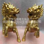 铜麒麟雕塑图片