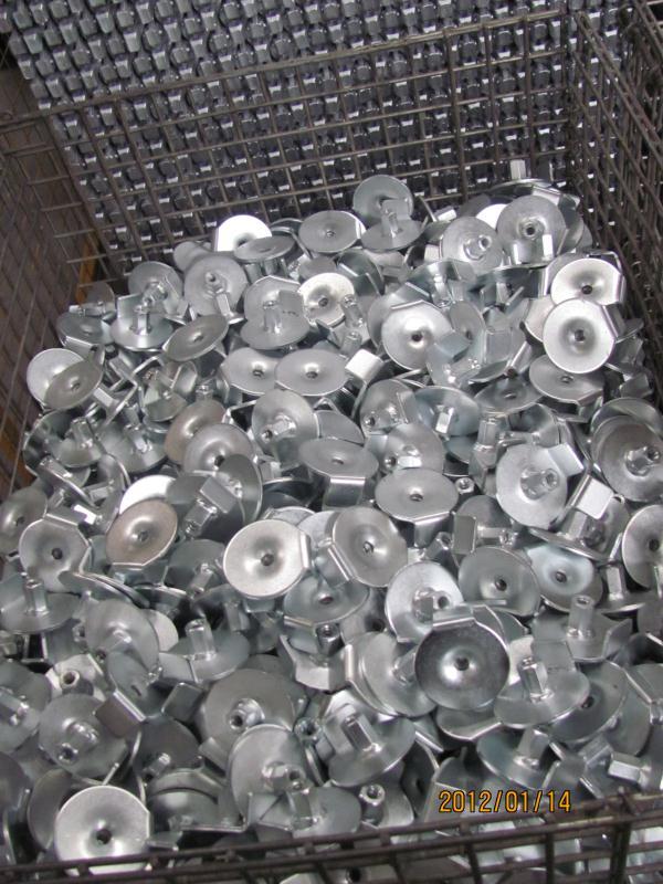 厂家直销对拉螺杆螺母垫片脚手架止水板模板配件挡片方盘垫块热镀锌预埋件