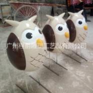 广州雕塑厂家专业供应 玻璃钢卡通猫头鹰 创意猫头鹰造型装饰摆件 商场橱窗美陈道具