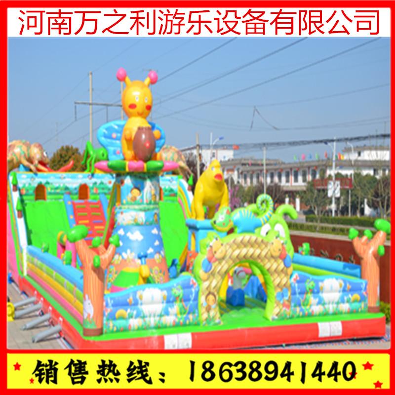 充气蹦蹦床充气城堡 游乐 广场 公园 室内儿童游乐设备 大型滑梯蹦蹦床 河南郑州,充气滑梯蹦蹦床
