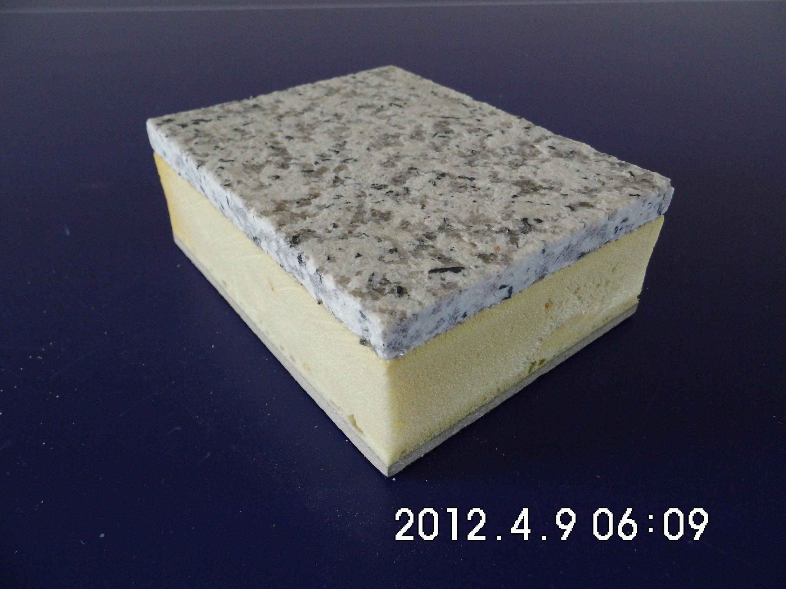 虾红花岗岩节能保温一体化复合板(