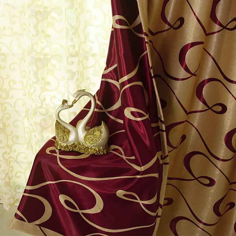 简约现代新款乱带双面提花酒店工程窗帘批发客厅卧室书房飘窗全遮光