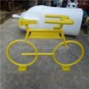 广东雕塑厂家 玻璃钢自行车展览展会车模道具   玻璃钢自行车模型雕塑