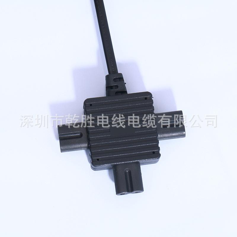 欧式2插电源线 圆插扁护套单头线 欧规插头半绝缘电源线 厂家直销 欧式二插电源线