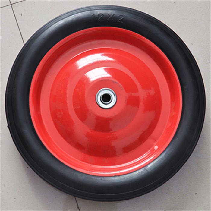 14*1.75实心橡胶免充气工业用脚轮灭火器车轮 12寸橡胶实心轮