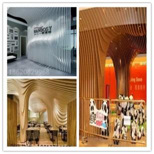 酒店装饰异形铝方通效果图图片