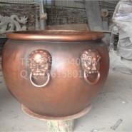 玻璃钢仿古铜水缸模型图片