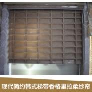 现代简约韩式梯带香格里拉柔纱帘图片