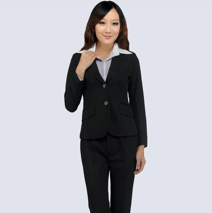 上海职业装定做 韩版修身职业套装