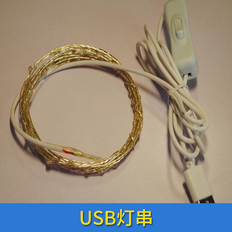 USB灯串厂家 USB防水铜线灯带遥控彩灯 铜线灯串led电池盒闪灯串 欢迎来电订购