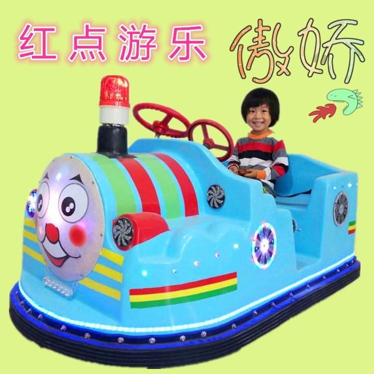 广场新款 儿童托马斯碰碰车  户外托马斯炫酷灯玩具车