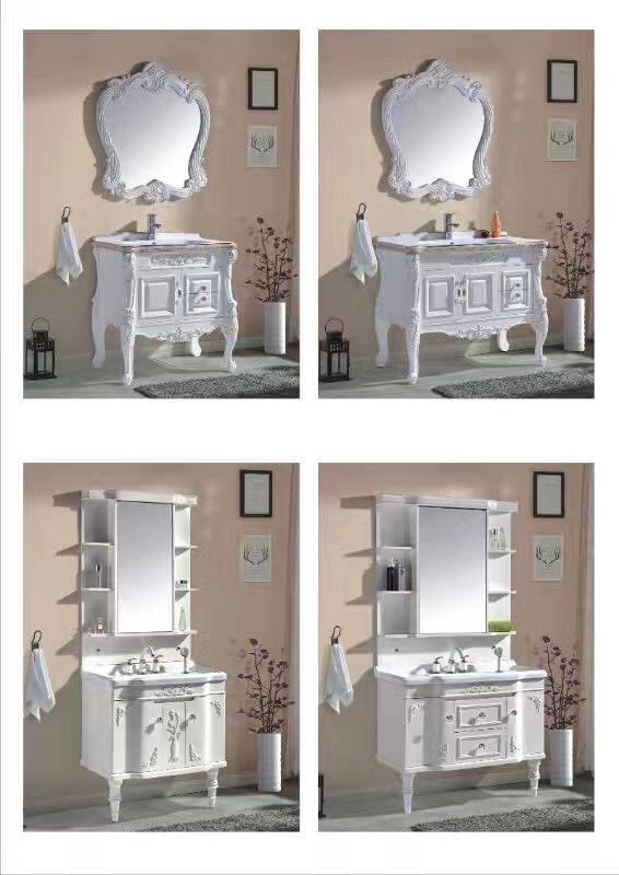 富利雅浴室柜PVC浴室柜组合落地式洗漱台 富利雅欧式浴室柜