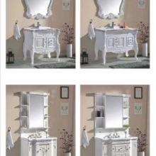 富利雅浴室柜PVC浴室柜组合落地式洗漱台 富利雅欧式浴室柜图片