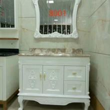 组合落地式洗漱台洗手脸面盆池卫生间现代简约镜柜 富利雅浴室柜8001