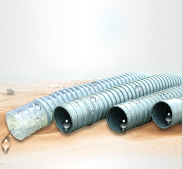 PVC双壁波纹排水管螺纹波纹管圆骨塑筋增强软管牛筋管家用排水管