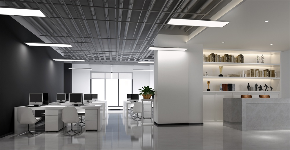 成都办公室装修|中国石化办公室设计装修效果图