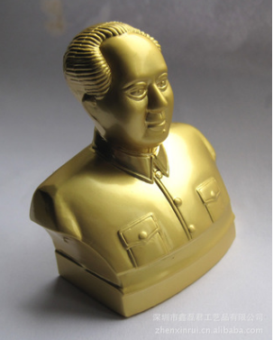 金属人物雕塑锌合金人物头像工艺品定制金属人物雕塑