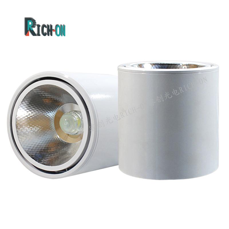 室内明装筒灯,5W/10W白色大功率明装天花筒射灯