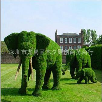 厂家直销 新款绿雕 仿真草雕 绿雕工程 定制动物绿雕 景观绿雕
