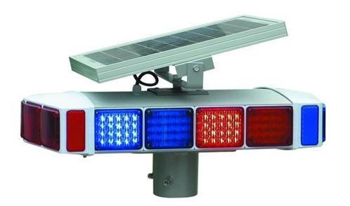 可折叠式塑料A字牌商场停车牌 太阳能一体式爆闪灯双面四爆警示灯
