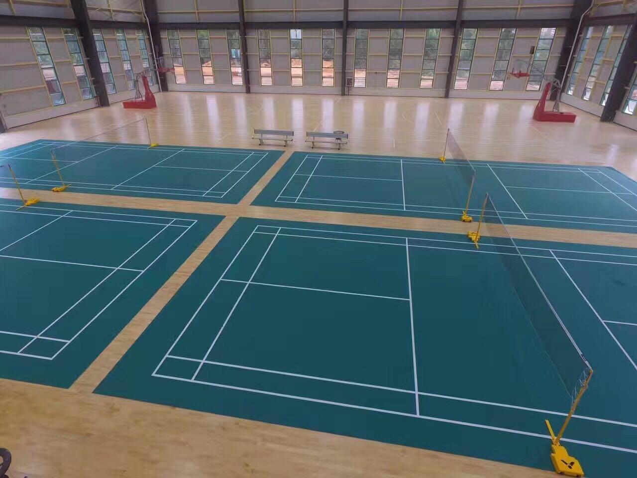 羽毛球场地 羽毛球场工程 羽毛球场尺寸