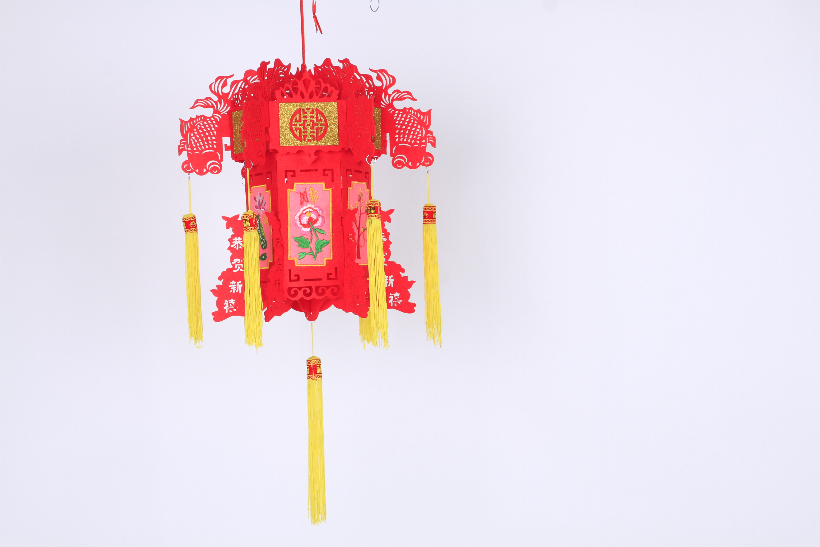 刺绣灯笼,大红灯笼,节日灯笼厂家批发 无纺布灯笼