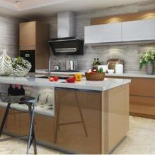 橱柜十大品牌欧意厨柜金色年华晶悦系列高分子整体厨柜图片