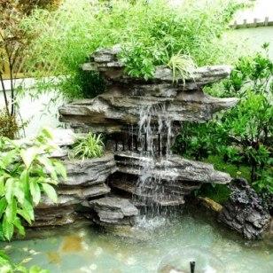 湘潭别墅假山鱼池制作选长沙观宇园艺|别墅假山鱼池批发