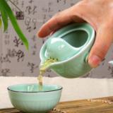 旅行陶瓷茶具 青瓷快客杯 便携旅行套装批发