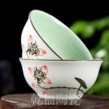 亚光青白瓷手绘茶杯水杯品茗杯