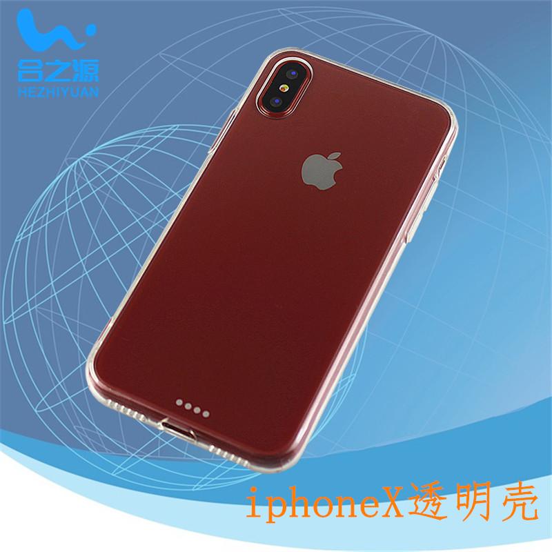 iphoneX二合一手机壳透明TPU+PC苹果X手机保护套厂家批