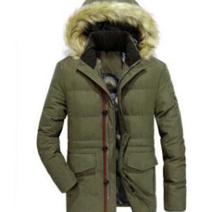 中长款毛领保暖厚欧美大码保暖棉袄图片