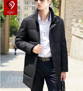2017秋季韩版新品男士长款纯色 纯色休闲修身长外套